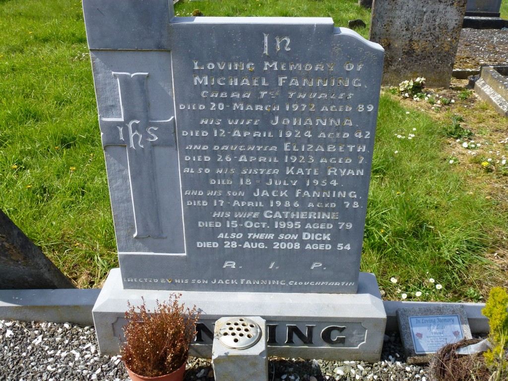 Moycarky Old Cemetery Fannings of Cabra Co Tipperary Ireland