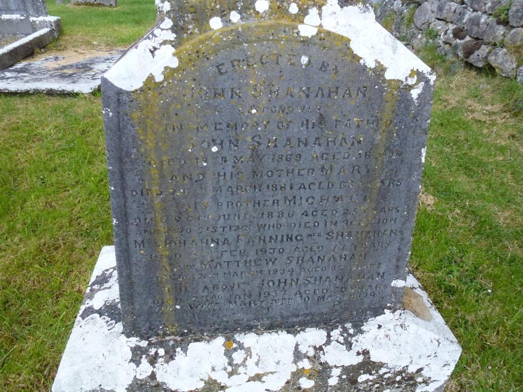 Moyne Cemetery Co Tipperary Ireland Shanahan & Fanning Gravestone