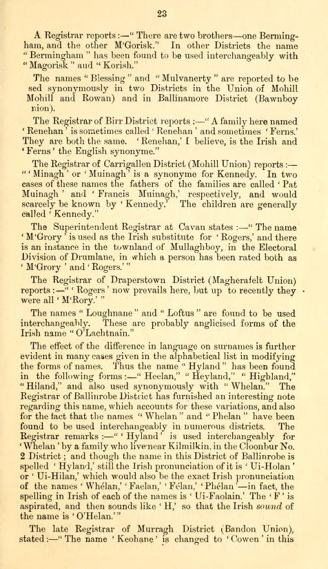 Name Variations Ireland p23