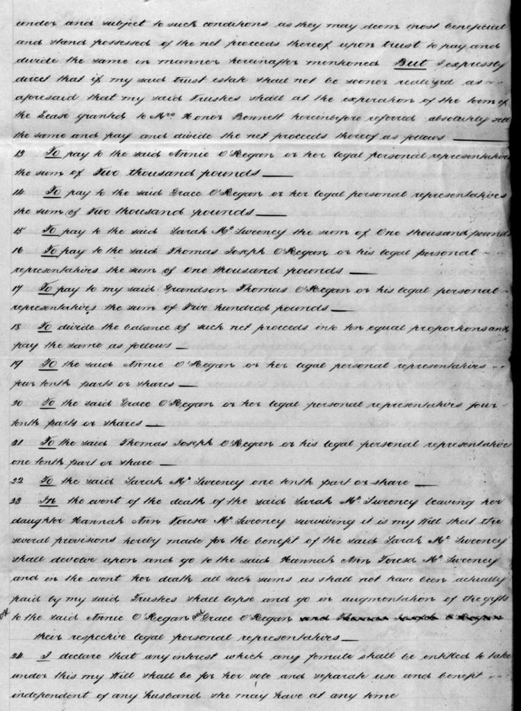 O'Regan Thomas Will 1888 page 3
