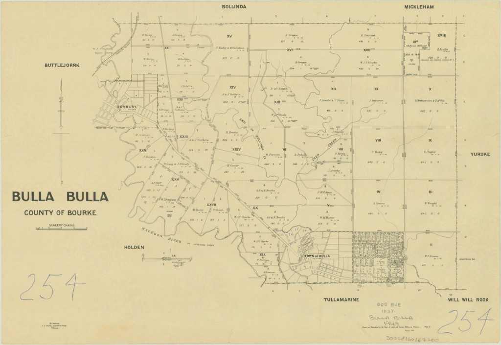 Map of Bulla Parish date unknown