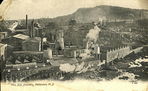 Paterson New Jersey Silk Mills about 1908