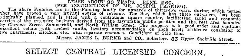 Patrick Fanning 1923 23 North Strand Sale