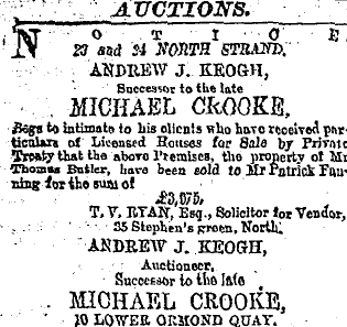 Patrick Fanning North Strand Purchase 1888 use
