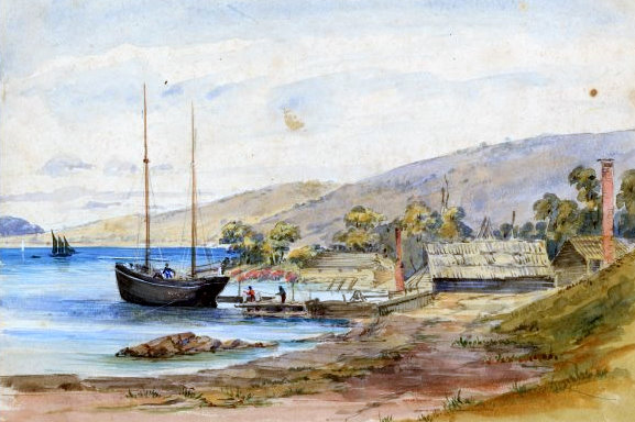 Snapper Point Mornington by J. Crear c1855 nla pic an 5694871