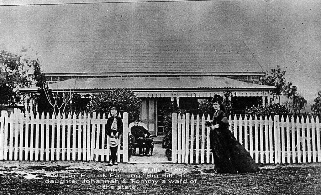 "'Sunnyside' Bulla Victoria. William Patrick Fanning"",Big Bill"" and Johanna,his daughter, c 1867"
