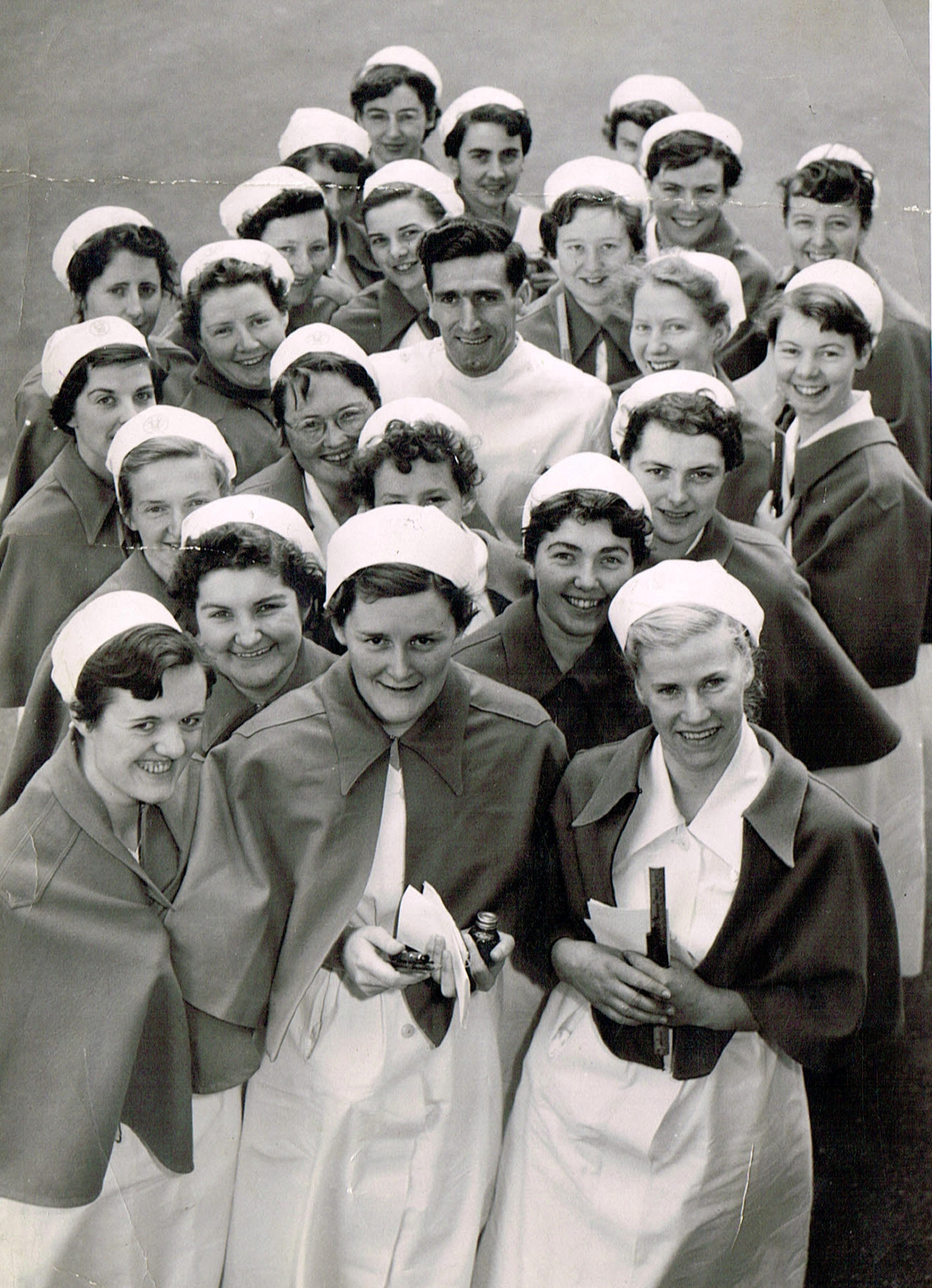 Ted Miller and nurses