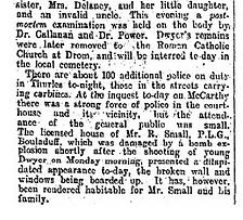 Thomas Dwyer Two Tipperary Murders 31 Mar 1920 irish Times_0003