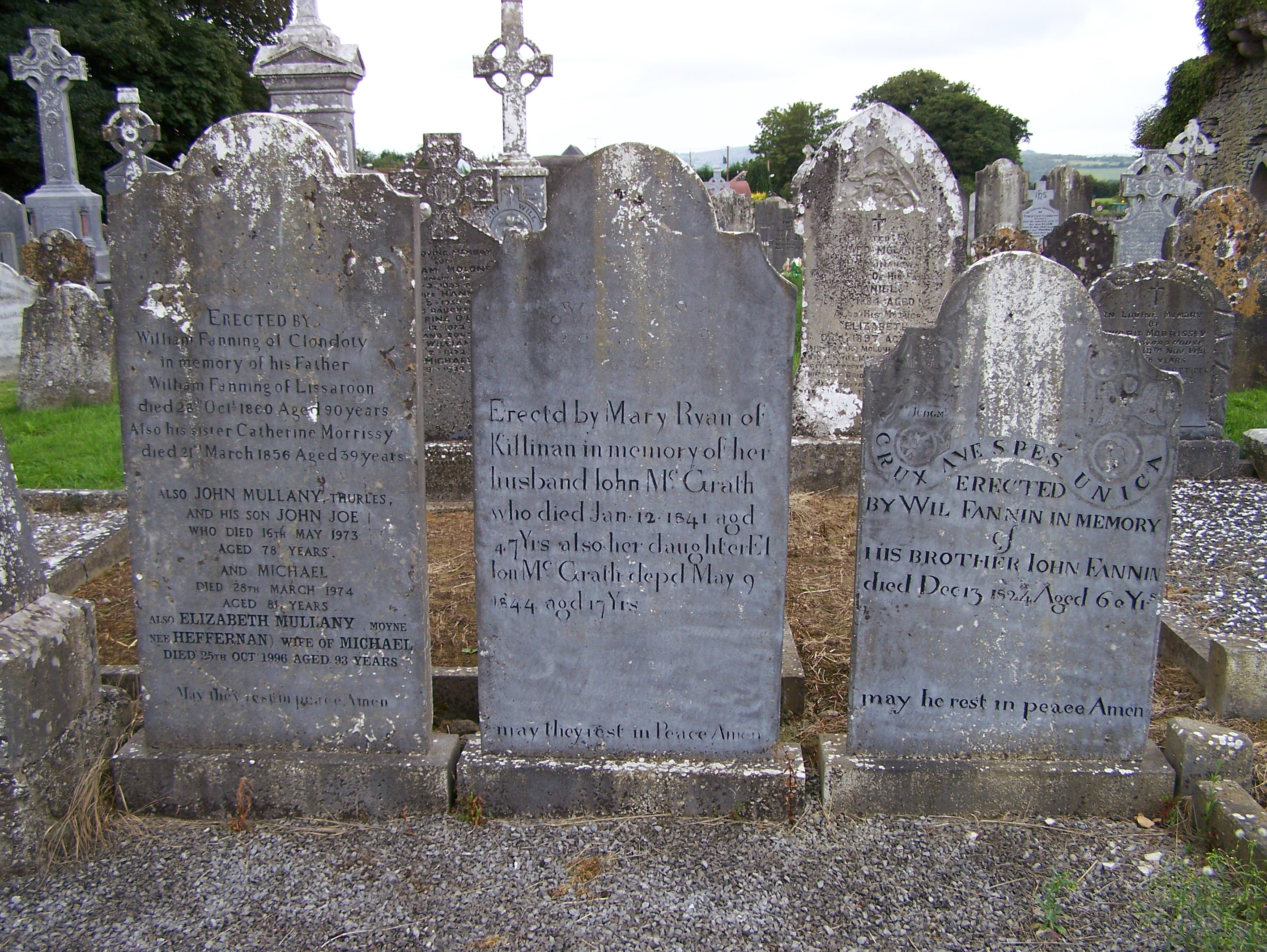 Three Fanning Graves Ballycahill Cemetery Co Tipperary Ireland