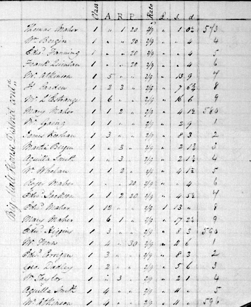 Edward Fanning of the Big Malt House District Roscrea Co Tipperary North Tithe Applotment Book Entry 1823