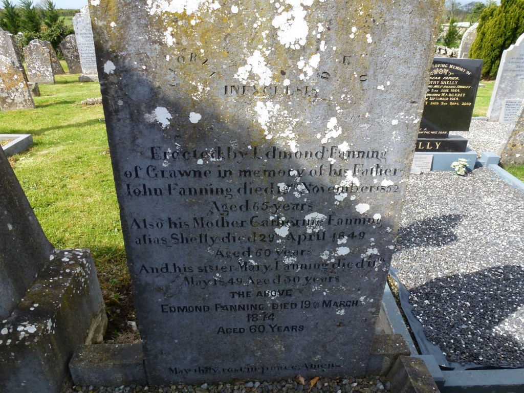 Twomileborris Cemetery Edmond Fanning of Grawne & Catherine Fanning nee Shelly