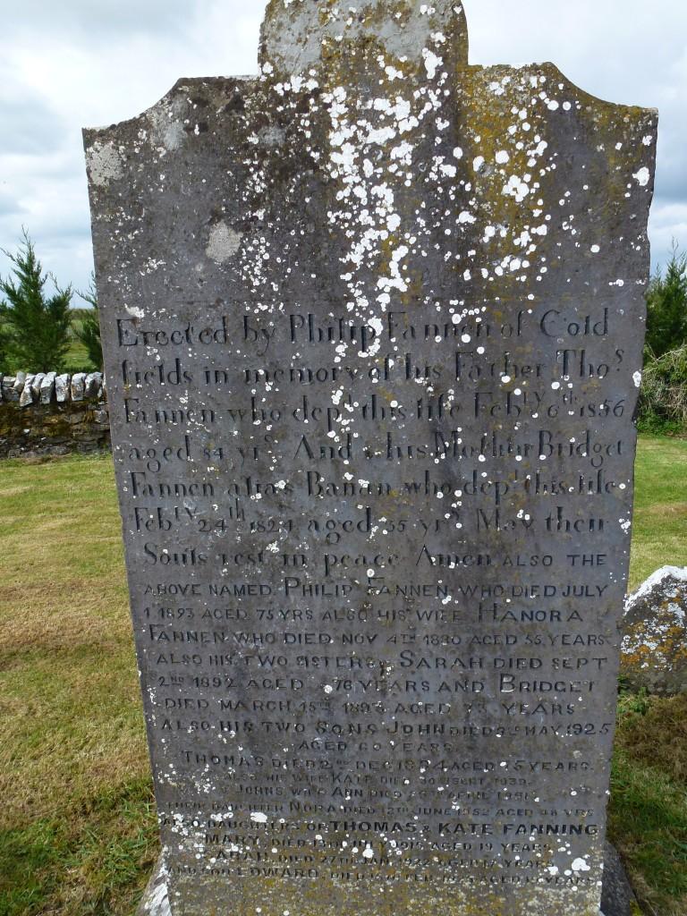 Twomileborris Cemetery Fannings of Coldfields (7)