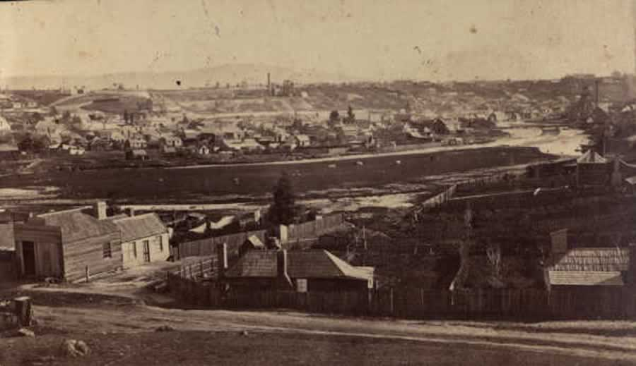 View of Clunes c1860-1869