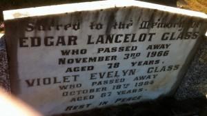 Violet E Glass nee Longton grave Yackandandah