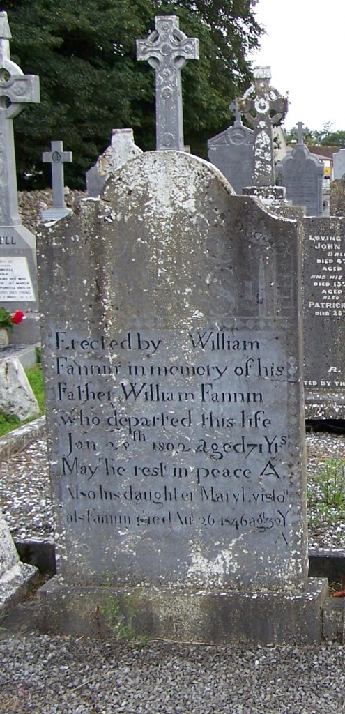 William Fannin and Mary Eviston Ballycahill Cemetery