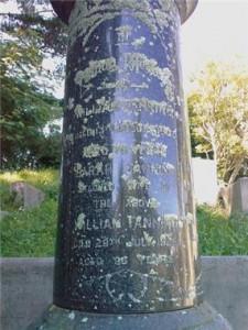 William Fanning grave Karori Cemetery Wellington 1907