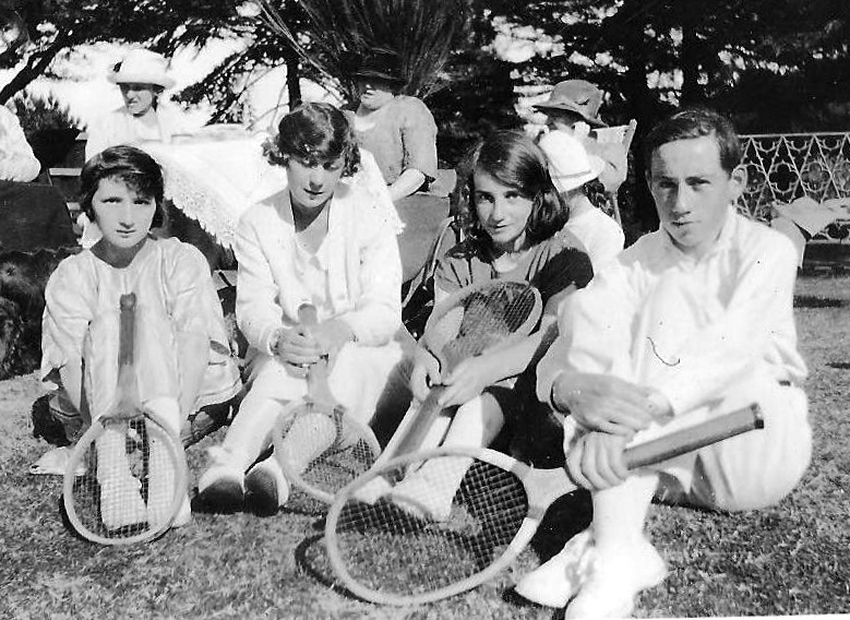 William Fanning with friends at tennis Dublin