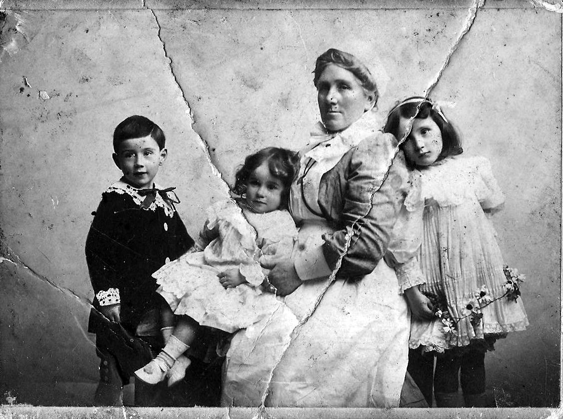 William Fanning with sisters and nanny Dublin