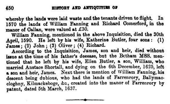 William Fannynge of Farranrory and Kilkenny p2 cr