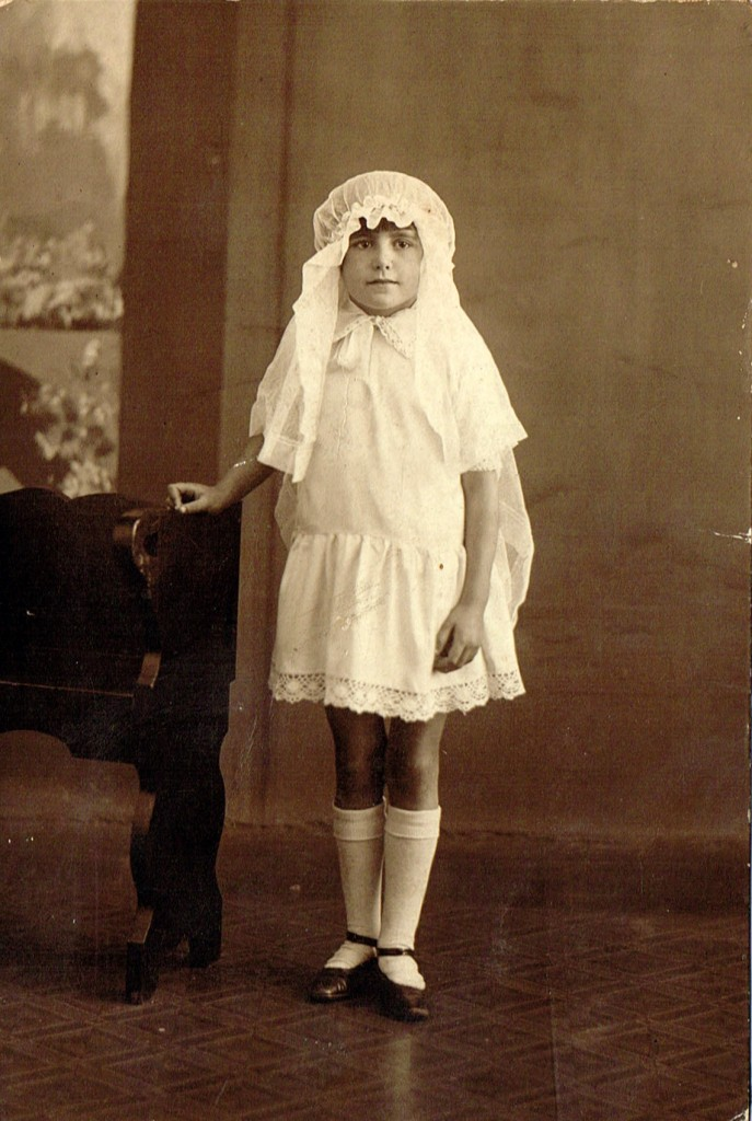 Winifred Knighton's First Communion