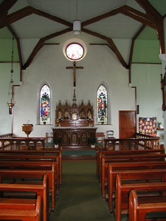 Interior of Ballycahill Catholic Church