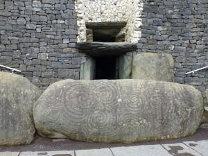 Newgrange Entrance to Megalithic Passage Tomb Co Meath